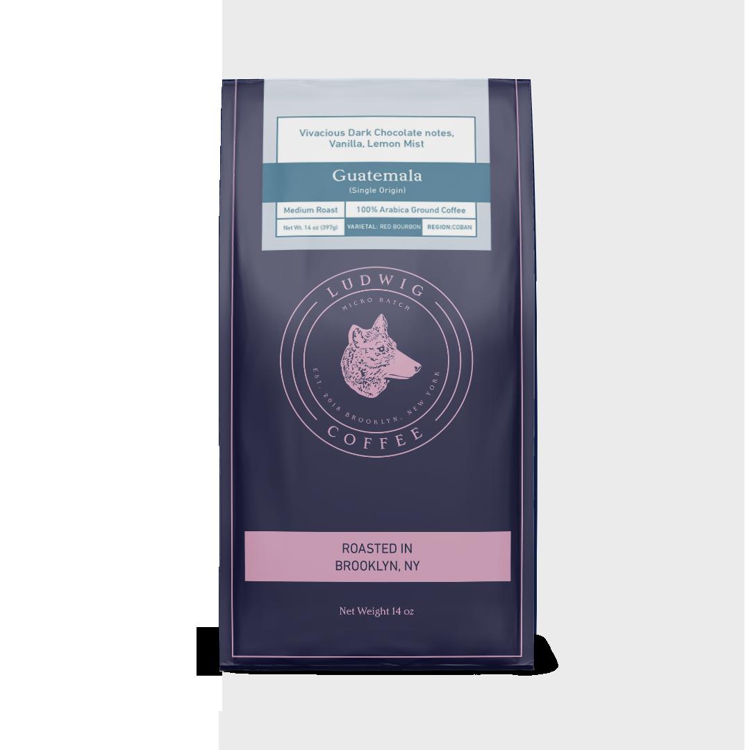 Guatemala 14oz single origin ground coffee bag