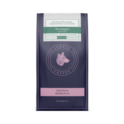Nicaragua 14oz single origin ground coffee bag