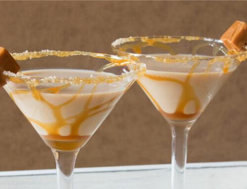 Salted Caramel Martini with Two Ladies Naked Irish Creme